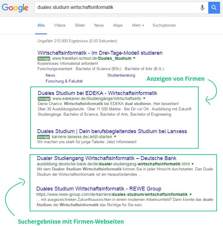 google freie plaetze wirtschaftsinformatikpng - Bewerbung Fr Duales Studium